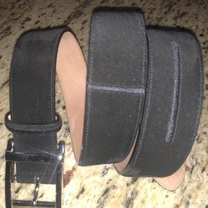 Men's black suede belt; like new, great condition